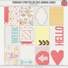 journaling cards | February Storyteller 2013 Journal Cards