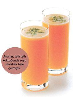 Ananas, misket limon, yer elması Tarifi - İçecekler Yemekleri - Yemek Tarifleri