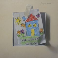 """Jorge Alberto, """"There Is No Place Like Home,"""" 10x10, oil on panel -- at Principle Gallery"""