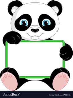 Panda Frame vector image on VectorStock Birthday Frames, 1st Boy Birthday, Crafts For Kids To Make, Art For Kids, Puppy Crafts, Eid Stickers, Disney Frames, Boarder Designs, Panda Images
