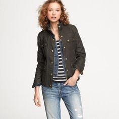 ❗️SALE✨J. Crew The Boyfriend Field Jacket! The Boyfriend Field Jacket • a J. Crew CLASSIC! • blackish navy color • condition is awesome, but flaws are that there are a few white marks on it. Definitely removeable. • price FIRM! J. Crew Jackets & Coats