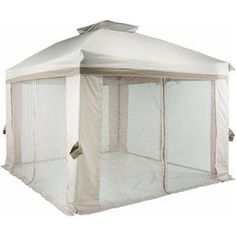 10' Pitched Roof Style Gazebo - Check this out at... http://outdoorlivingandpatioessentials.com/gazebos/10-pitched-roof-style-gazebo/