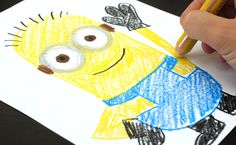 How To Draw A Minion (for kids) From Despicable Me 2