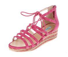 Pink Wedge Sandals.