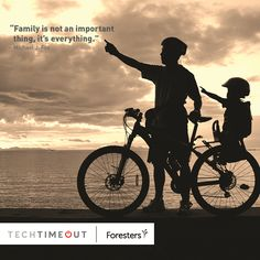 """Family is not an important thing. It's everything."" - Michael J. Fox #family #techtimeout"
