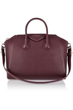GIVENCHY Medium Antigona bag in burgundy textured-leather $4,751.22 http://www.net-a-porter.com/products/587741