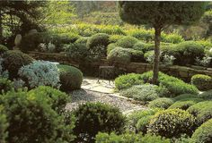another view of 'La Louve' - the private garden of Nicole de Vésian in Bonnieux, Provence, France.