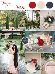 Maroon and Navy | 6 Classic Fall Wedding Palettes