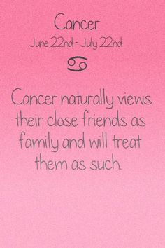How Cancers view friends