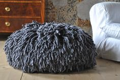 Fantastic pouf. I would love something like this and I really like this color too
