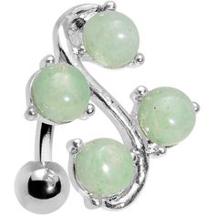 Jade Vine Top Mount Belly Ring | Body Candy Body Jewelry