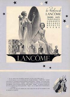 Lancôme 1936 Charles Lemmel Vintage advert Perfumes illustrated by Charles Lemmel | Hprints.com