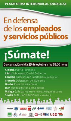 SÚMATE  En defensa de los empleados y servicios públicos. Plataforma Intersindical Andaluza