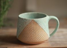 Terrific Photos Pottery Wheel aesthetic Strategies ceramic mug wheel thrown pottery mugs by StoneHavenPottery on Etsy Pottery Tools, Slab Pottery, Pottery Mugs, Ceramic Pottery, Sgraffito, Ceramic Cups, Ceramic Art, Stoneware Mugs, Earthenware