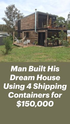 Tiny Container House, Building A Container Home, Container Buildings, Cargo Container, Shipping Container Home Designs, Shipping Containers, Metal Building Homes, Building A House, Barn House Plans