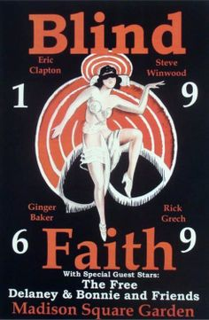 Blind Faith (eric clapton, steve winwood, ginger baker, rick grech) plus Delaney & Bonnie and Friends (likely with Duane Allman)/ Madison Square Garden, 1969