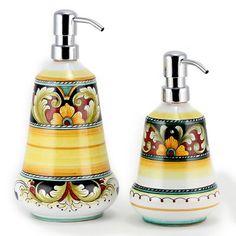 Artistica - Italian Ceramics, Deruta  soap dispensers