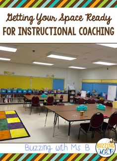 One of the things you'll want to do right away as a new instructional coach is to set up your room! Read about the way I've organized the spaces in my room and what they're used for in my daily coaching.