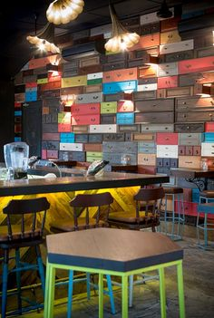 The Green Door - Singapore - Drawers Wall