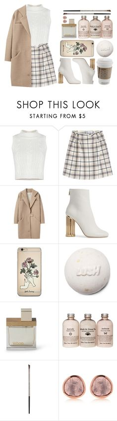 """""""Peek-A-Boo"""" by antisocial-vagabond ❤ liked on Polyvore featuring Carven, Cacharel, Salvatore Ferragamo, Dsquared2 and Urban Decay"""