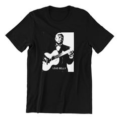 Lead Belly Hand screen-printed T Shirt Men's / Ladies / Fitted / Guitar / Blues / Rock / Grunge / Buy any two shirts get one free! by cottonpickincrazy on Etsy Lead Belly, Wholesale T Shirts, Blues Rock, Lady V, Screen Printing, Classic T Shirts, Long Sleeve Tees, T Shirts For Women, Grunge