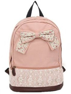Cute Lace Floral Sweet Bow Backpacks only $35.9