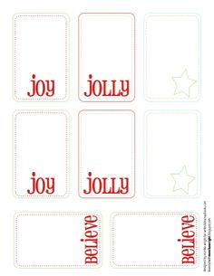 Printable Christmas tags.