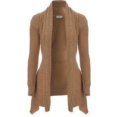 Cable Waterfall Cardigan ❤ liked on Polyvore