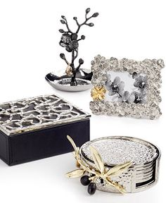 One-of-a-kind accents for your new home, Michael Aram gifts collection Wedding Gift Registry, Wedding Gifts, Black Orchid, Welcome Gifts, Scented Candles, Picture Frames, Best Gifts, Decorative Boxes, Objects