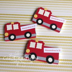 Fire engines Carolina Evans - Stampin' Up! Boy Cards, Kids Cards, Cute Cards, Paper Punch Art, Punch Art Cards, Tarjetas Diy, Gaspard, Owl Punch, Craft Punches