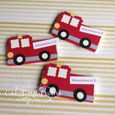 Feuerwehrautos auch gut für Bügelperlen