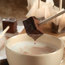 Cocoa Blocks (Hot Chocolate on a stick)-choco/coffee day...self made mochas when used with coffee:)