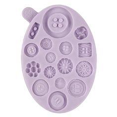 Karen Davies Clusters, Plaques & Medallion Molds - Button Mold by Karen Davies