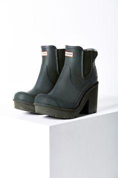 Hunter Original Block Heel Chelsea Boot