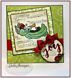 "Stamping with Julie Gearinger: Sweet 'n Sassy Stamps- ""Alpha Script"", ""Celebrate the Savior"" and ""Music to My Ears"" using the Mojo476 Sketch :-)  #snss, #snsscreativeteam, #snsstamps, #sweetnsassystamps, #christmascards, #christmas, #celebratethesavior, #scriptalpha, #musictomyears, #cardmaking, #handmadecards, #stamping, #juliegearinger"