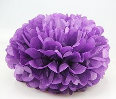 Umiss Tissue Paper Pompom Colorful Hanging Party Supplies in 6 inch Pack of 10 (Purple) Umiss http://www.amazon.com/dp/B01E2F73B2/ref=cm_sw_r_pi_dp_KZofxb05RXD1Z