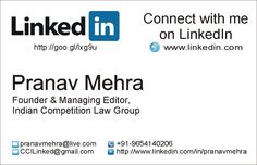 Visiting card for teevra consulting printocity business linkedin business card designed by us please let us if you want one for yourself colourmoves