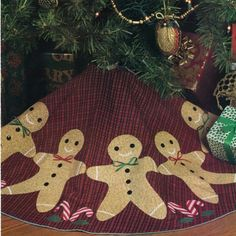 ~ PATTERN for Gingerbread Man Christmas Tree Skirt ~ Applique ~