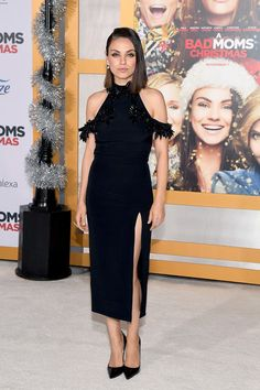 "Mila Kunis attends the premiere of STX Entertainment's ""A Bad Moms Christmas"" at Regency Village Theatre on October 30, 2017 in Westwood, California."