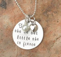 she is fierce cuff | Though she be but little she is fierce - Hand stamped bracelet ...