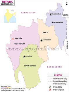 Tripura District Map
