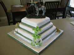 Western Theme Wedding Cake cowboy cake, wedding cakes, fun cake