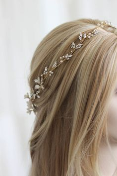 For the love of mixed metals | Boho bridal headpiece 2