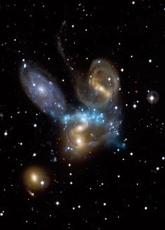 About 30 million years ago, 2 supermassive black holes began to merge. This cosmic convergence will continue for 10's to 100's of millions of years into the future. By : +NASA's Chandra X-ray Observatory