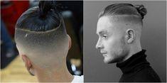 coupe homme rasé sur les côtés chignon #hair #hairstyles #modern