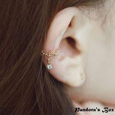 Wrap Ear Cuff Crystal Dangle Ear Cuff No Pierced Wrap Ear Cuff Dangle Rhinestone Ear Cuff