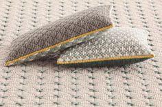 SILAÏ Square cushion by GAN By Gandia Blasco design Charlotte Lancelot