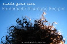Learn how to ditch the shampoo with super simple shampoo recipes and no poo ideas.