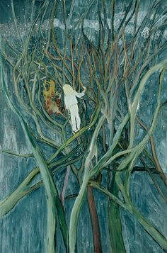 Girl in White with Trees, 2001 - 2002 Oil on canvas 300 x 200 cm 118 1/8 x 78 3/4 in Collection Bonnefanten Museum