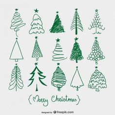 More Christmas tree sketches. Easy and fun addition to this year's Christmas card envelopes! Christmas Tree Sketch, Christmas Doodles, Noel Christmas, All Things Christmas, Christmas Ornaments, Green Christmas, Merry Christmas Drawing, Merry Christmas Calligraphy, Painted Christmas Tree